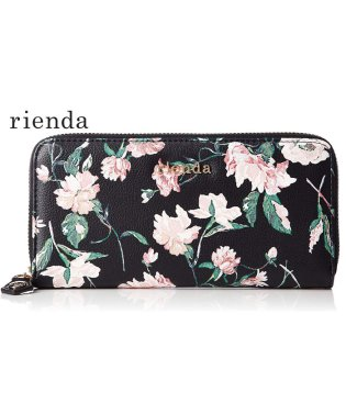 【rienda】【rienda】OLD ROSE FLOWER PRINT ROUND WALLET