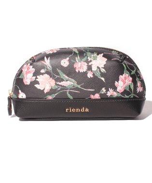 【rienda】【rienda】OLD ROSE FLOWER PRINT POUCH