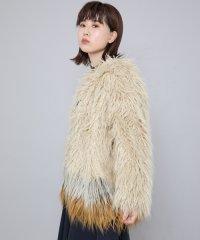 【SENSEOFPLACE】カラーブロッキングファージャケット