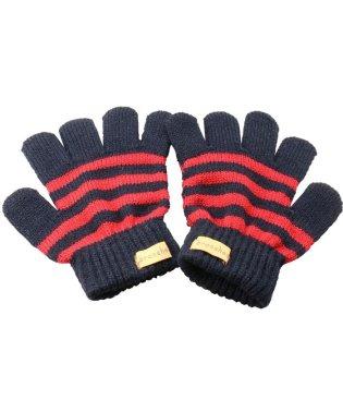 ボーダー柄手袋