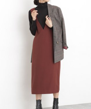 【WEB限定】二重織Iラインジャンパースカート