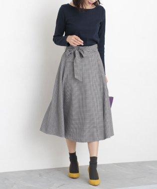 【WEB限定】チェックフレアスカート