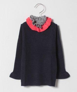 ダブルフリルハイネックセーター