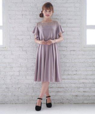 【WEB限定】フリルスリーブドレス