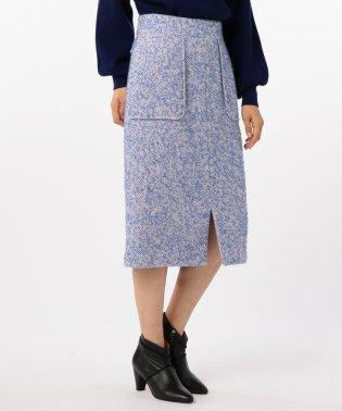 ループヘリンボンツイードタイトスカート