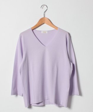 【大きいサイズ】ARINA 天竺編みVネックセーター