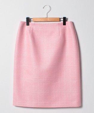 【大きいサイズ/セットアップ対応】ファンシーツイード タイトスカート