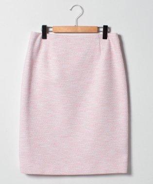 【大きいサイズ/セットアップ対応】ストレッチラメツイード タイトスカート