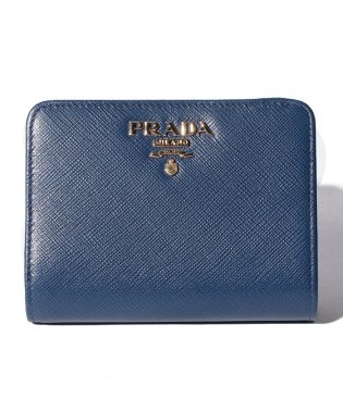 【PRADA】2つ折り財布/SAFFIANOMETAL ORO【BLUETTE】