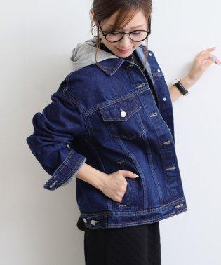 【D-4】オーバーサイズ フード付き Gジャン デニムジャケット