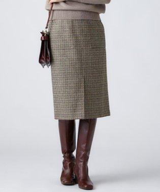 MOON SHETLAND TWEED タイトスカート