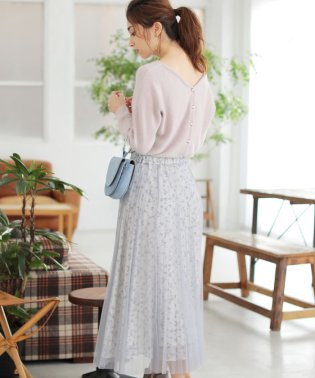 ★【MAGASEEK/d fashion限定カラー】前後2WAYニット×プリーツスカートSET