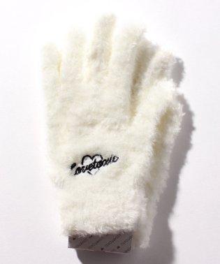 刺しゅう入りふわふわ手袋