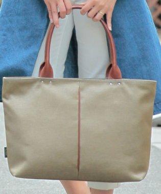 オティアス Otias/トートバッグ ナイロン×ポリエステル混紡ツイル+ヌメ革 日本製