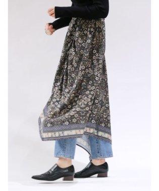 ヴィンテージフラワーギャザースカート