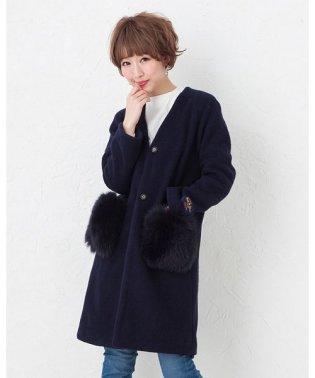 ★スポンジウールポケットフォックスコート(元町ゼラール)