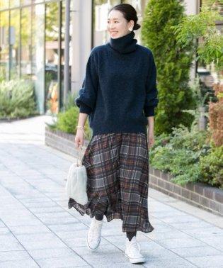 【予約】【WEB限定】シャドーチェックギャザースカート