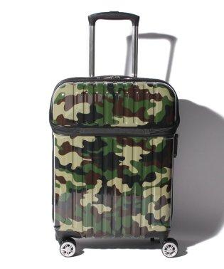 スーツケース トップオープン トップス S 迷彩 機内持ち込み対応サイズ