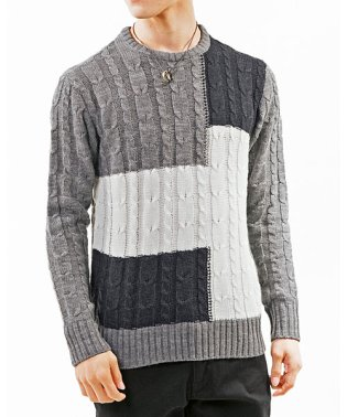 3タイプ!クルーネックニットセーター