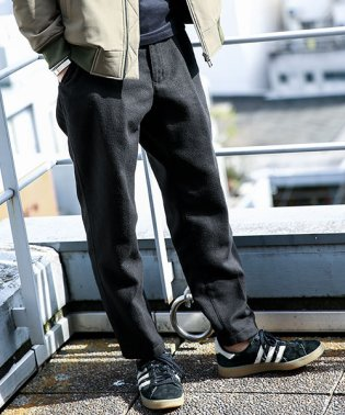 【WEB限定商品】タックテーパードウールイージーパンツ