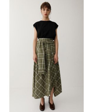 SLEEVE TIED CHECK スカート