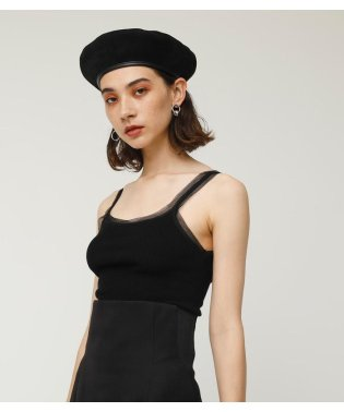TULLE NECK T/T