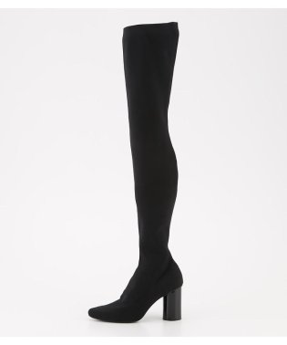 RIB FITTED KNEE HIGH BOOTS