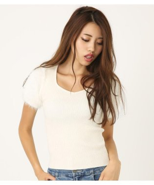 シャギーSLV Knit RIB TOP