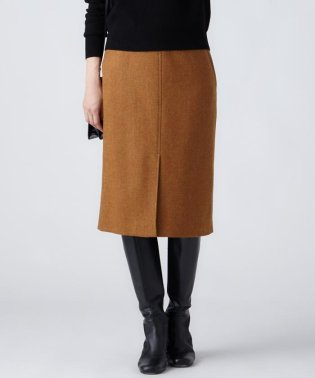 MOON LAMBSWOOL COLOR TWEED タイトスカート