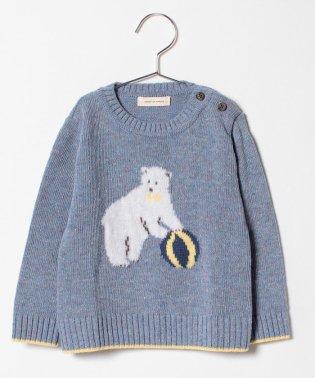 シロクマネップクルーネックセーター