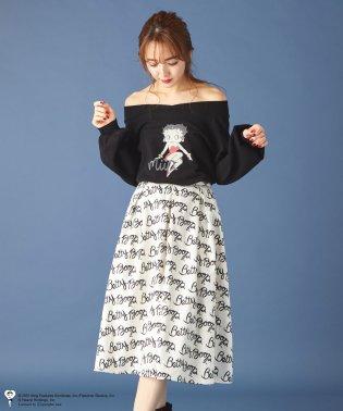 ベティーちゃんコラボロゴプリントスカート