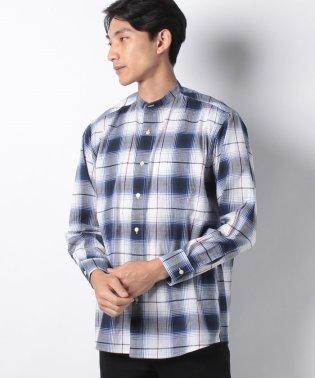 :ビッグシルエットチェックシャツ LS