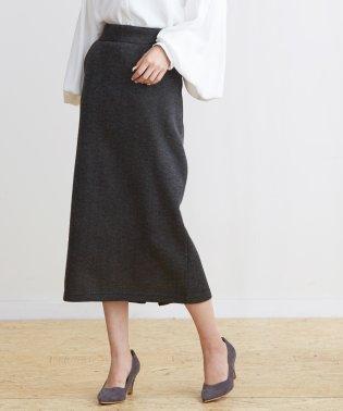 フリースニットロングタイトスカート