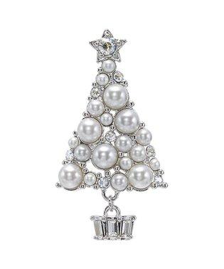 クリスマスツリーモチーフ ブローチ