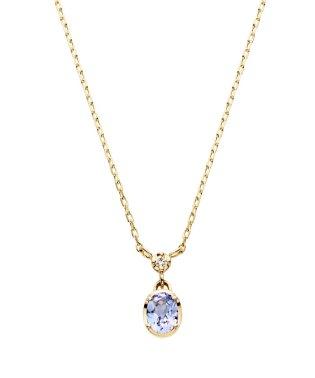 K10YG バースストーン タンザナイト ダイヤモンド ネックレス