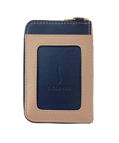 (BACKYARD/バックヤード)IC乗車券2枚使い分け ファスナーポケット付きパスケース/ユニセックス ネイビー