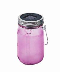 ソーラー充電式ライト「Grass Jar Star 」 ピンク