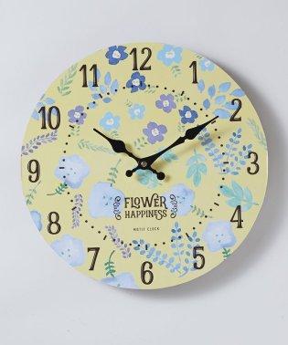 モチーフクロック 「SHOP series」 33cm FLOWER SHOP BLOOMING <yellow>