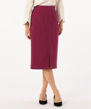 ウール調合繊ポケット付タイトスカート