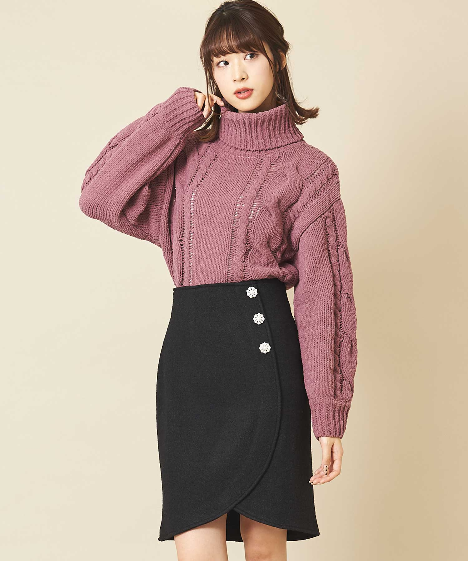 【bis 1月号掲載】ヘムカシュクールタイトスカート