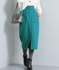 フロント釦Iラインロングスカート