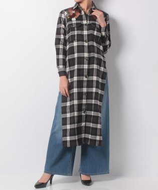 【khaju】EACH×OTHER:TARTAN SHIRT DRESS