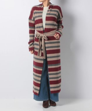 【khaju】EACH×OTHER:STRIPE KNIT GILET