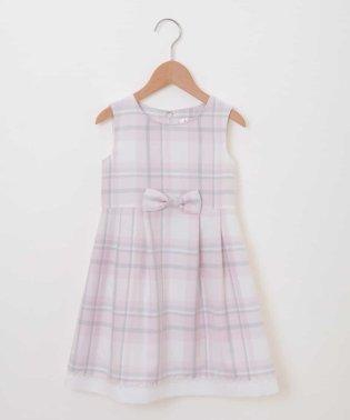 【セレモニースタイル】フォーマルチェックワンピースドレス
