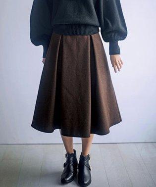 ベルト付ウール風フレアースカート