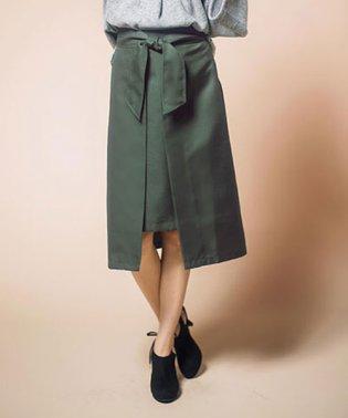 ラップ風デザインスカート