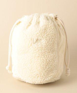 〔WEB限定〕LEE(リー)ボア巾着バッグ