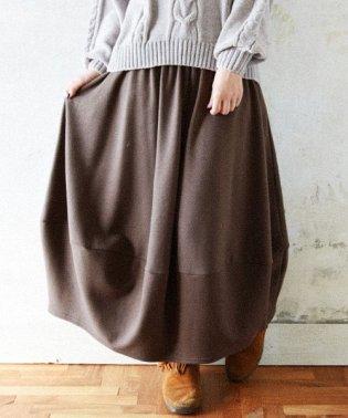 あったか裏起毛ふんわりバルーンスカート
