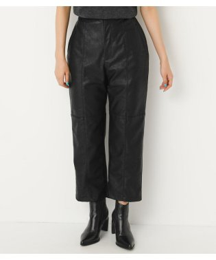 FAUX LEATHER PIN TUCK PT