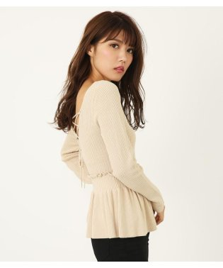 MIX Pattern Knit ペプラムTOP(2)
